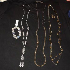 Set of Necklaces and Bracelet